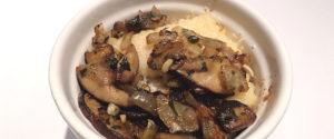 Funghi porcini con crema di polenta