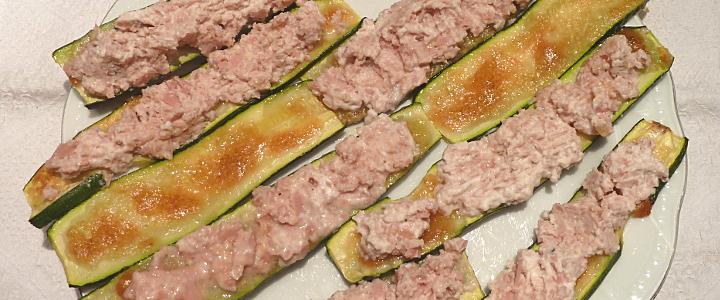 Zucchini con mousse di mortadella