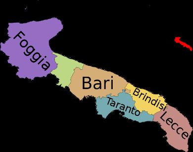 Provinzen Apuliens