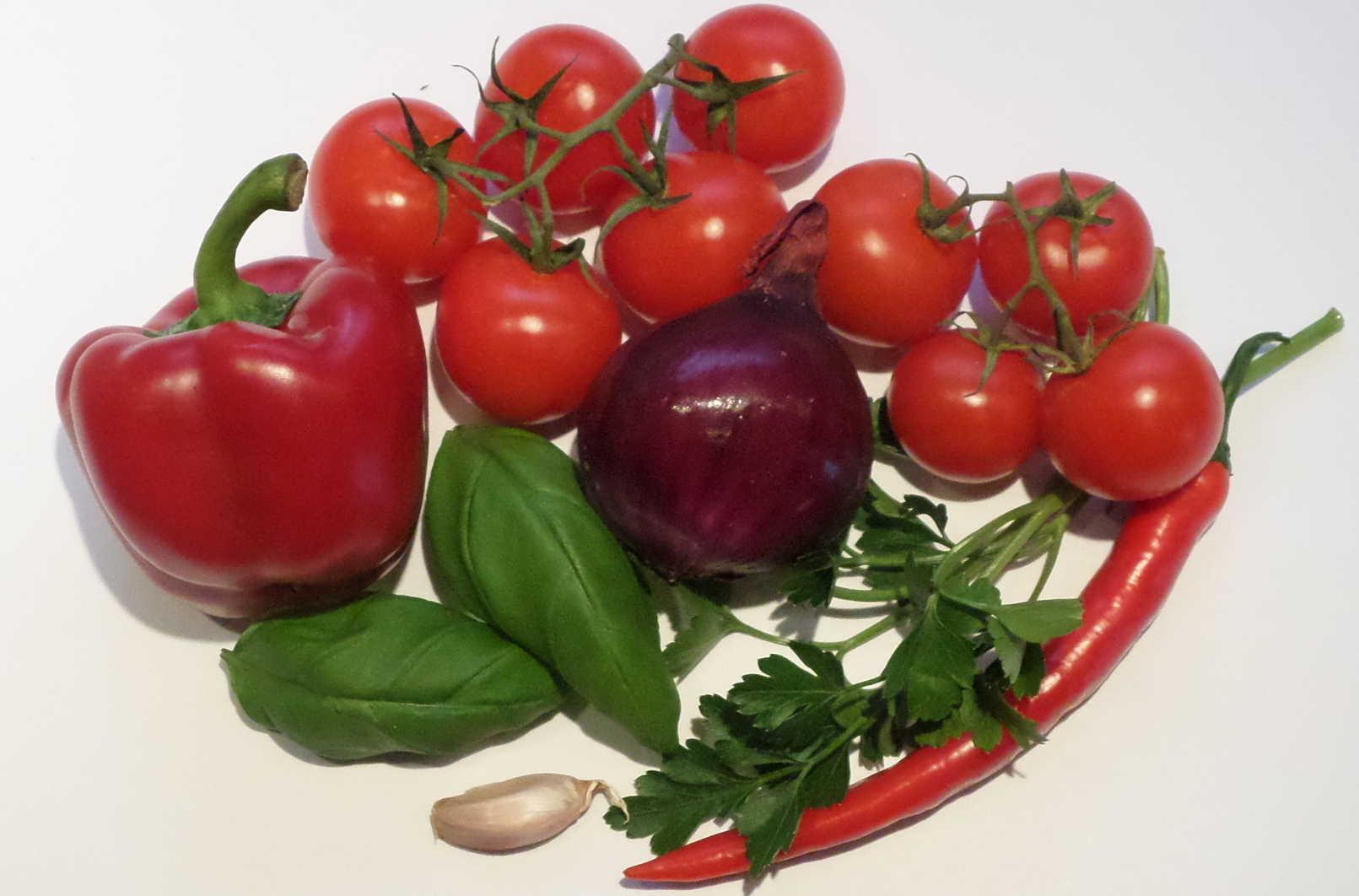Zutaten für Bagnetto rosso
