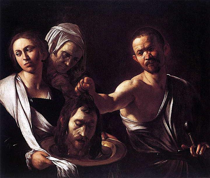 caravaggio Haupt des Giovanni Battista