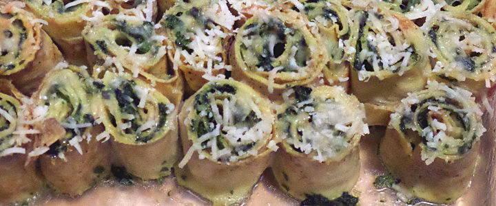 crespelle agli asparagi e spinaci