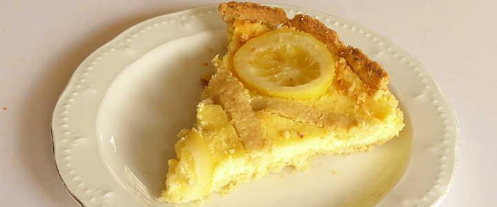 crostata di ricotta e limone