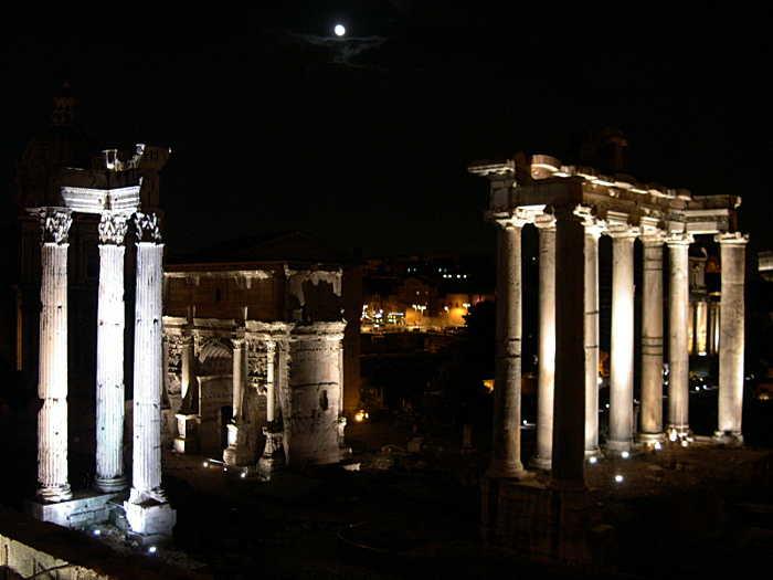 foro romano notturno