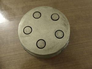 Bronze-Matritze zur Herstellung von Rigatoni