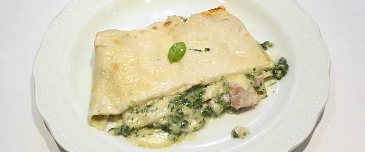 lasagne bianche agli spinaci