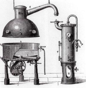 Gerät zur Herstellung von Dosentomaten (Anfang 20. Jh.)