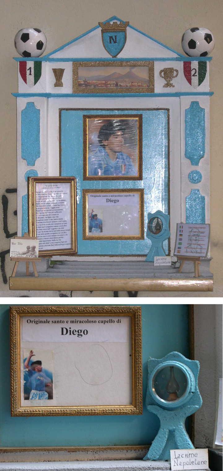 Diego-Maradona-Schrein in der Altstadt von Neapel