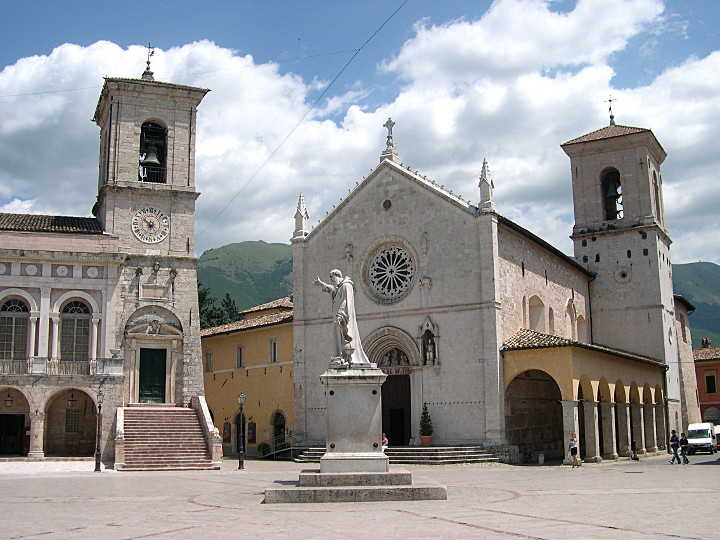 Piazza San Benedetto in Norcia (PG)