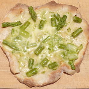 pizza agli asparagi
