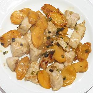 pollo con nespole in agrodolce