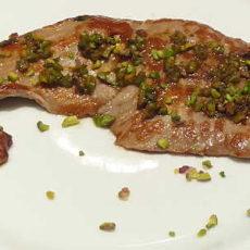 scaloppine di vitello al pistacchio