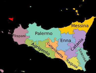 Die Provinzen Siziliens