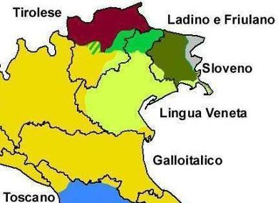 Sprachen und Dialekte Nordostitaliens