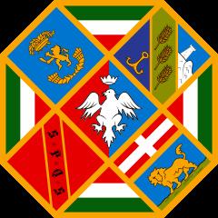 Flagge der Region Latium