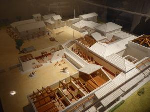 Modell einer Villa des Plinius d.J. (61-113) mit Olivenwirtschaft