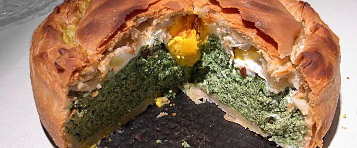 Torta pasqualina - Oster-Torte mit Spinat und Eiern
